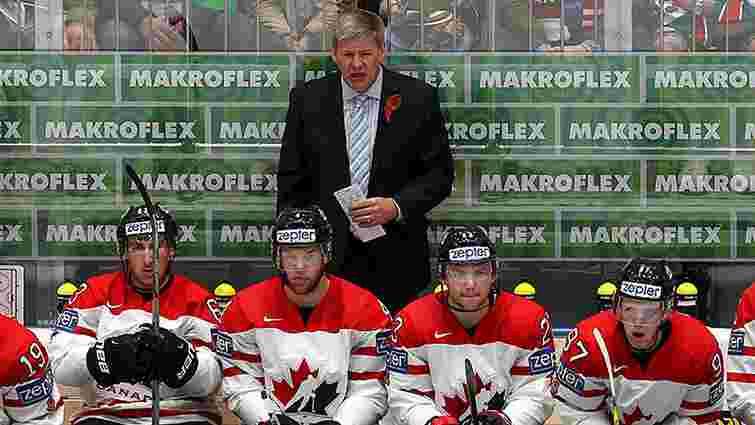 Тренери збірної Канади одягнули георгіївські стрічки під час чемпіонату світу з хокею у Росії