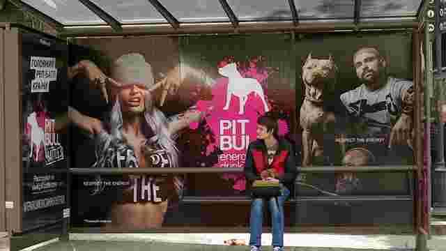 Приватна фірма без жодних дозволів обклеїла зупинки в центрі Львова рекламою енергетика