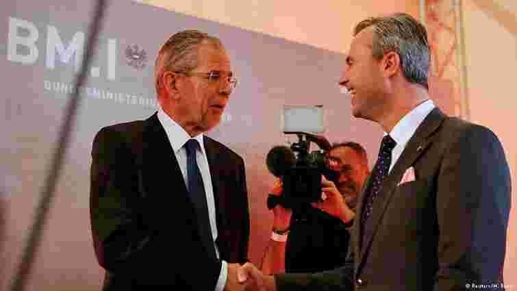 Попередні підрахунки досі не виявили лідера президентських перегонів у Австрії