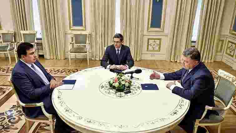 До річниці Саакашвілі на посаді Порошенко дав йому чотири завдання й одну обіцянку