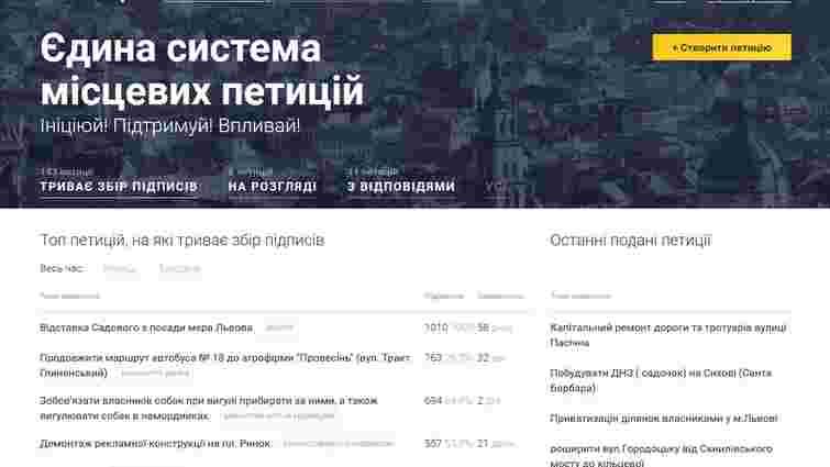 Е-петиція про відставку мера Львова набрала понад 1000 підписів