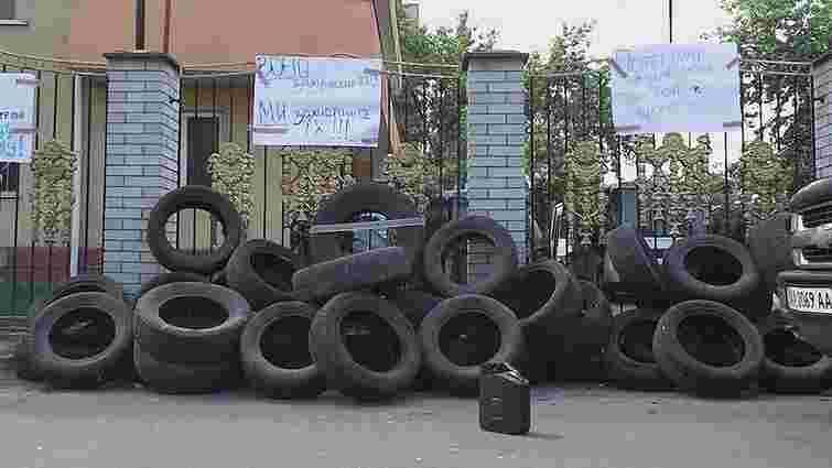 У Києві добровольці АТО заблокували суд, де розглядають справу скандальної роти «Торнадо»