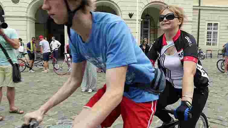 Зі Львова розпочався велопробіг за участі незрячих людей