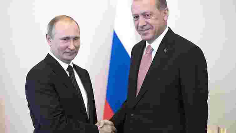 Путін і Ердоган домовились розморозити проект будівництва газопроводу «Турецький потік»
