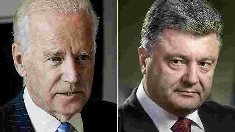 Порошенко обговорив з віце-президентом США ситуацію в Криму і на Донбасі