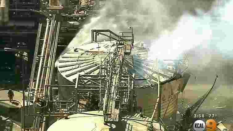 У Каліфорнії стався вибух на  нафтопереробному заводі