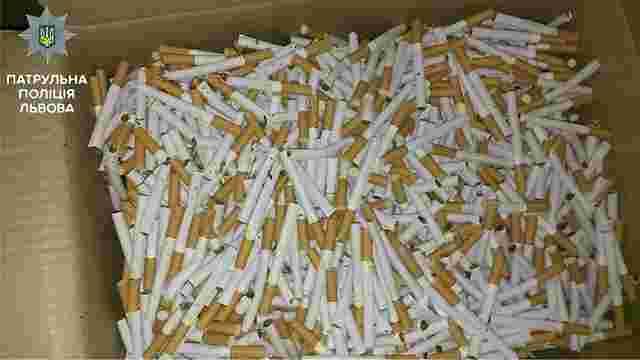 У Львові зупинили водія у наркотичному сп'янінні з нерозфасованими сигаретами