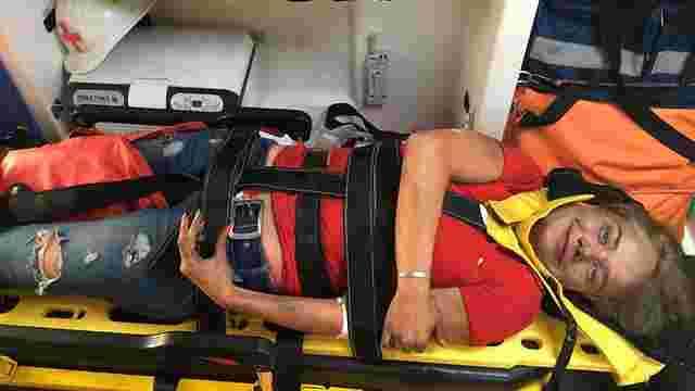 Журналістка «Інтера» травмувала хребет, втікаючи від пожежі