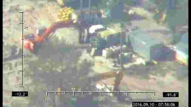 Авіація ДПСУ виявила чотири місця незаконного видобутку бурштину на Рівненщині