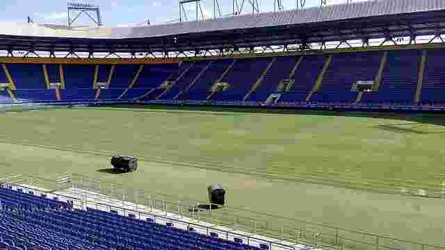 «Шахтар» розпочав роботи із відновлення газону на стадіоні «Металіст»