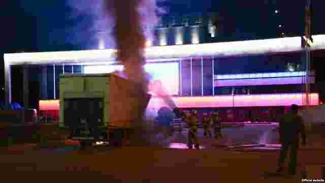 В окупованому Криму на передвиборчій акції «Єдиної Росії» сталася пожежа