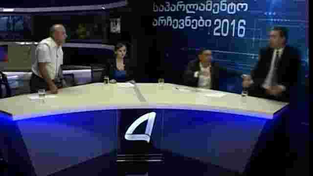 У Грузії політики побилися під час дебатів у прямому ефірі
