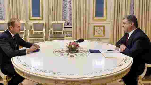 Порошенко провів переговори із президентом Європейської ради щодо ратифікації угоди Україна-ЄС