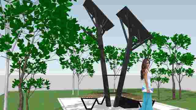 В центрі Івано-Франківська встановили «Сонячне дерево»