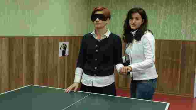 У Львові провели відкриті змагання з озвученого тенісу для незрячих