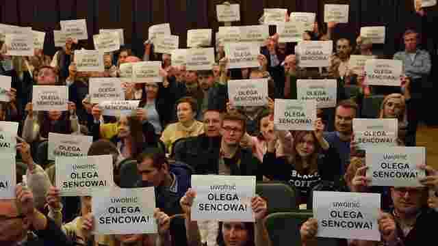 У Варшаві пройшла акція на підтримку Олега Сенцова