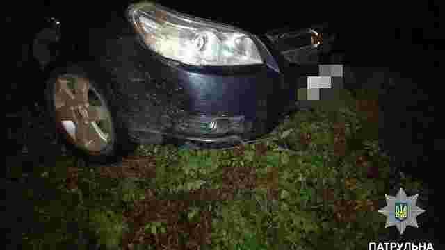У Львові п'яний водій виїхав на узбіччя і заснув в авто