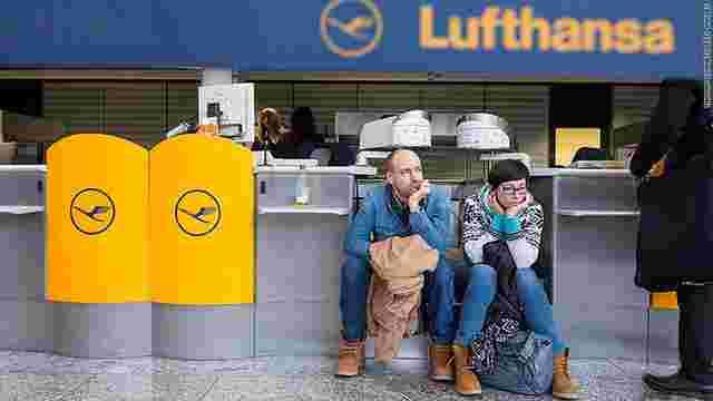 Німецька авіакомпанія Lufthansa скасувала понад 800 авіарейсів через страйк пілотів
