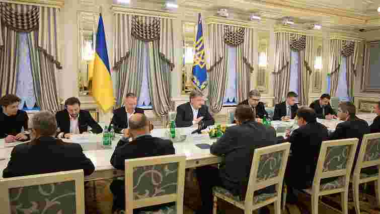На зустрічі з представниками кіноіндустрії Порошенко висловився за підтримку вітчизняного кіно