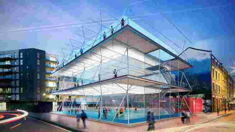 Британські архітектори розробили прототип багатоповерхових мобільних футбольних майданчиків