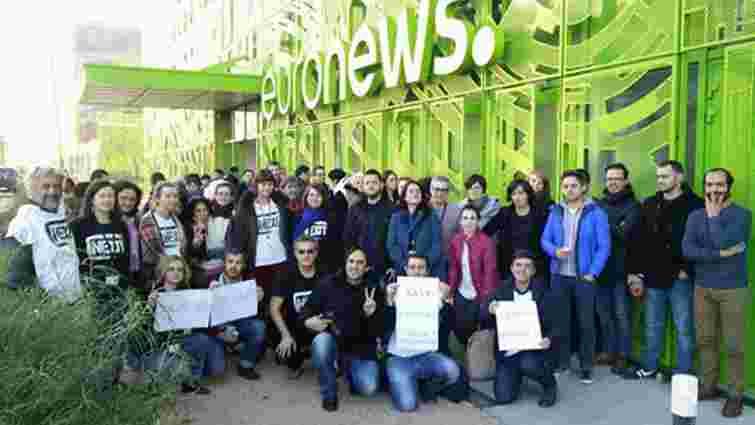 Українські журналісти почали страйк на телеканалі Euronews