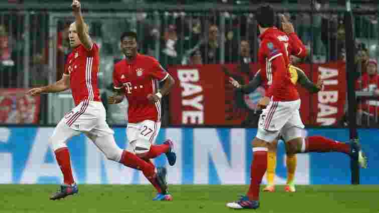 «Баварія» забила 5 голів лондонському «Арсеналу» в 1/8 фіналу Ліги чемпіонів