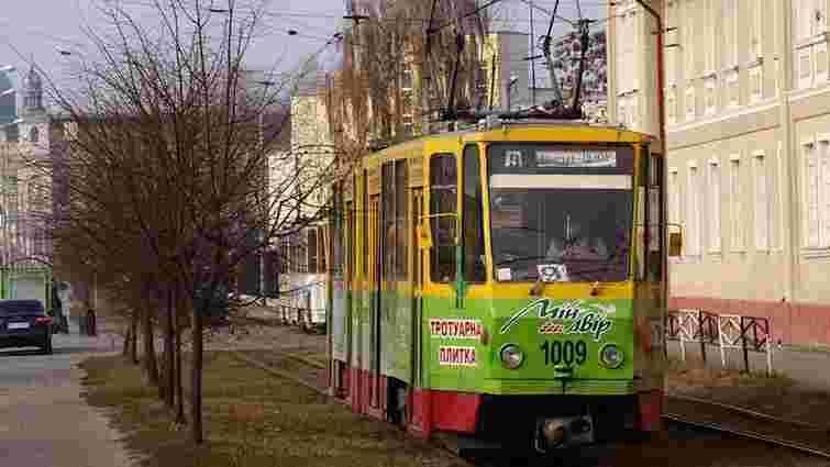 Через ремонт колії трамваї не їздитимуть до львівського залізничного вокзалу п'ять місяців