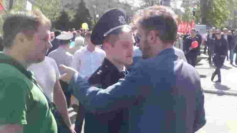 У Дніпрі на демонстрації почубилися соціалісти і представники профспілок