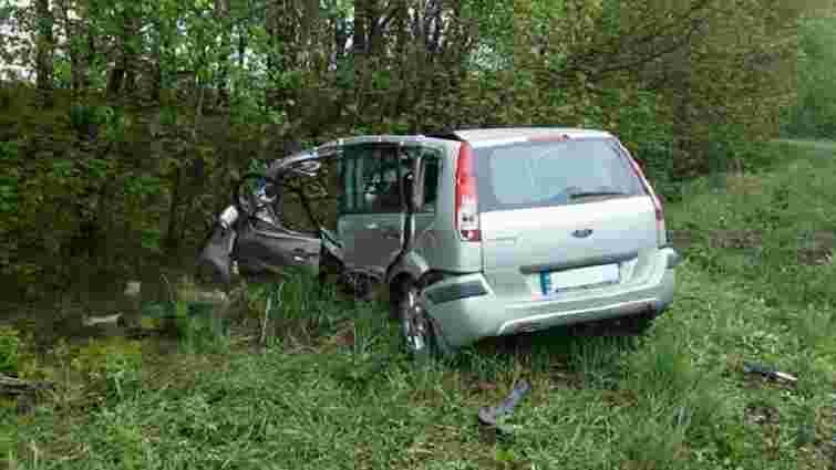 На Рівненщині водій легковика врізався в електроопору і загинув
