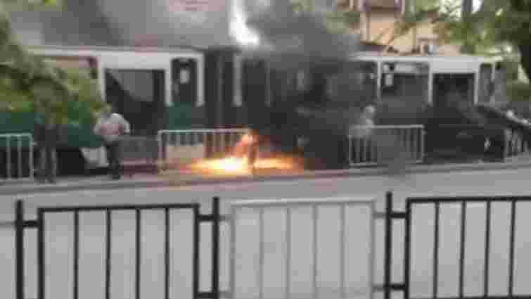 У Львові під час руху загорівся відремонтований трамвай