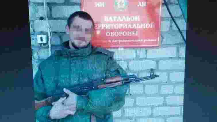 CБУ і військові затримали озброєного бойовика «ЛНР», який знущався над полоненими