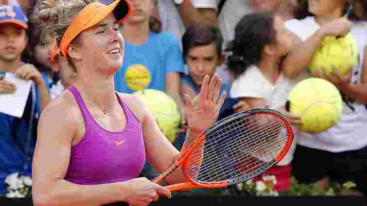 Еліна Світоліна вийшла у фінал престижного турніру в Римі