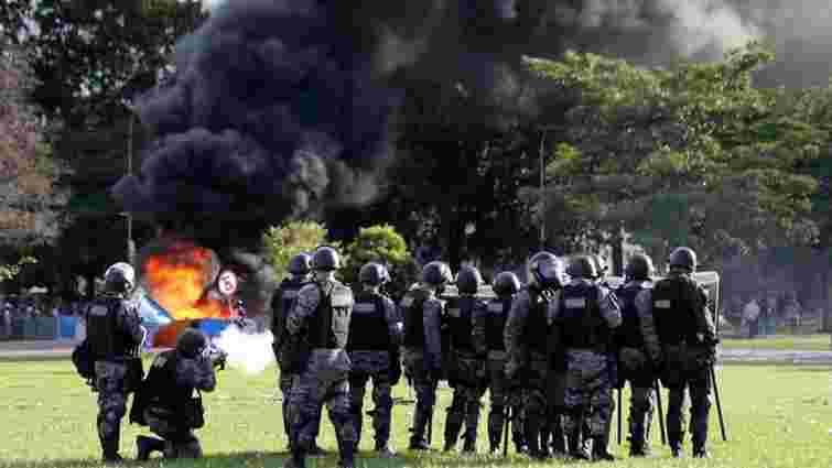 В Бразилії протестувальники підпалили міністерство сільського господарства