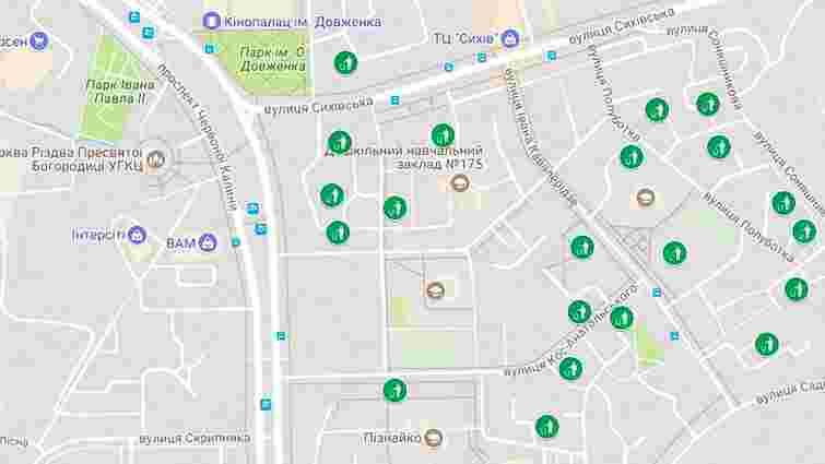 Онлайн-мапа переповнених сміттєвих майданчиків у Львові. 5 липня