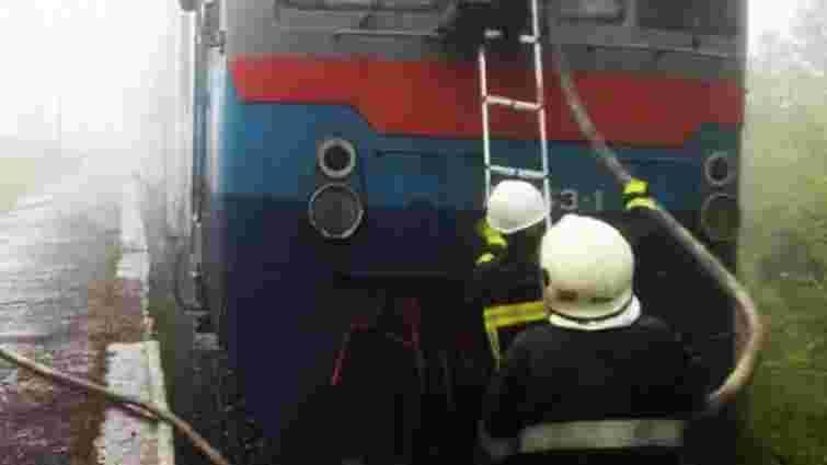 На Закарпатті загорівся приміський поїзд з пасажирами