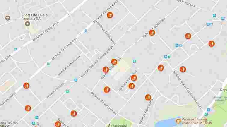 Онлайн-мапа переповнених сміттєвих майданчиків у Львові. 7 липня