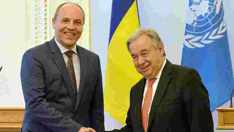 Парубій закликав генсека ООН позбавити Росію права вето на Раді безпеки