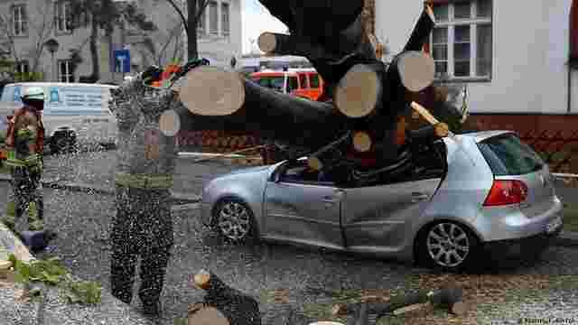 Внаслідок штормового циклону у центральній Європі загинули п'ятеро людей