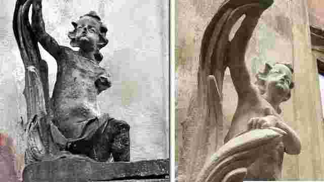 У Львові відреставрували скульптури кам'яниці на вул. Вірменській