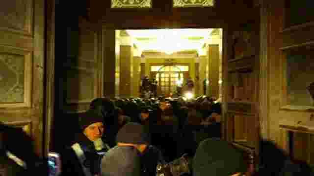 У Києві прихильники Саакашвілі спробували захопити Жовтневий палац