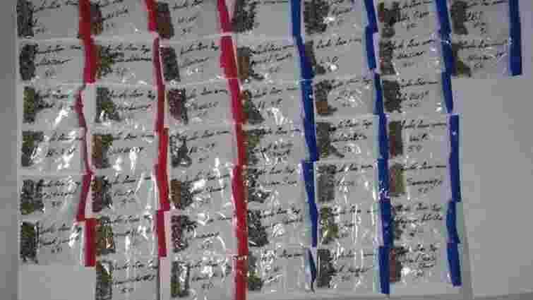 На Харківщині контрабандисти заховали в голові етноляльки 43 пакети з насінням коноплі
