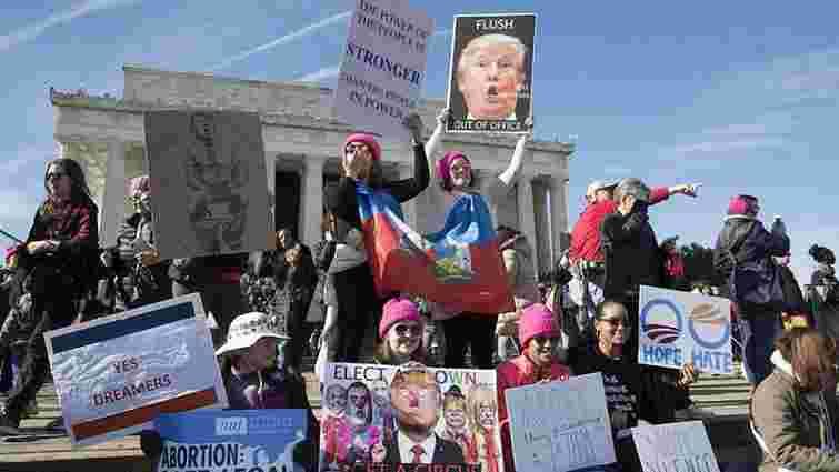 На «Марш жінок» проти Трампа у США вийшли сотні тисяч осіб