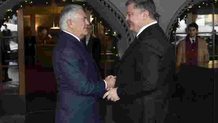 Порошенко обговорив із держсекретарем США питання співпраці General Electric і «Укрзалізниці»