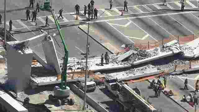 У США через кілька днів після встановлення обвалився пішохідний міст: є загиблі