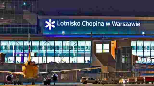 Варшавський аеропорт першим у Польщі заборонив нічні польоти