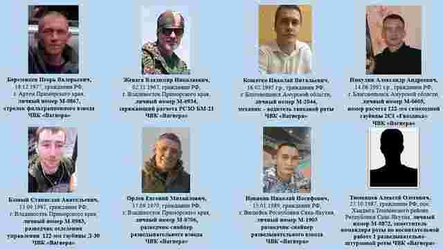 СБУ назвала імена 20-ти бойовиків ПВК «Вагнер», яких секретно доставили з РФ у Сирію