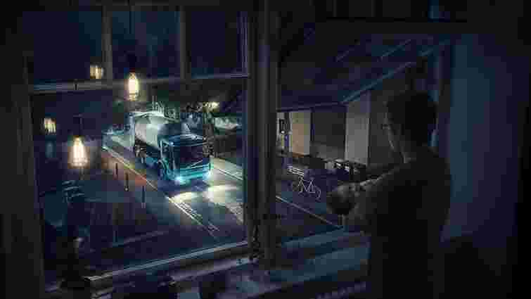 Volvo представила безшумну електричну вантажівку для вивезення сміття