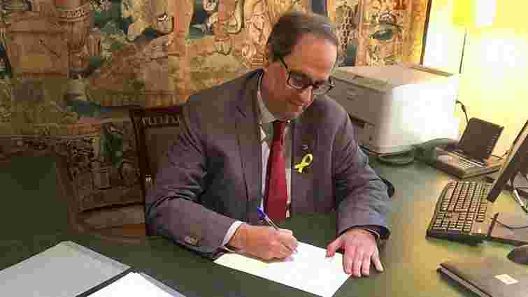 Новий лідер Каталонії включив до уряду політиків, які ув'язнені або втекли за кордон