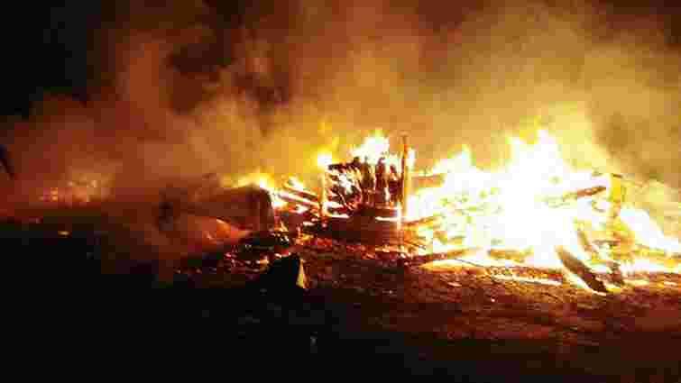 Дерев'яна церква УПЦ (МП) згоріла на Житомирщині
