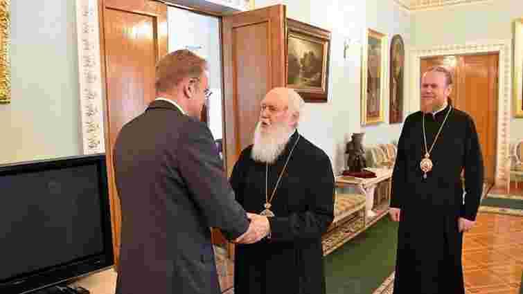 Глава УПЦ (КП) зустрівся з міським головою Львова Андрієм Садовим
